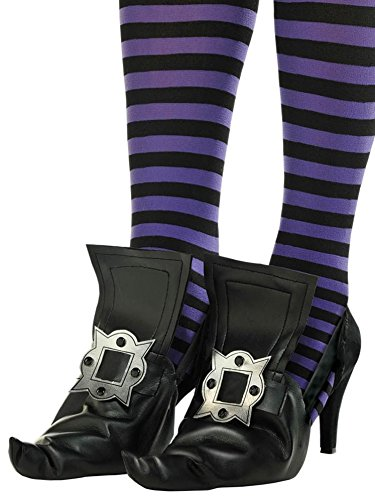 amscan Adult Witch Shoe Covers One Size, Multicolor ()
