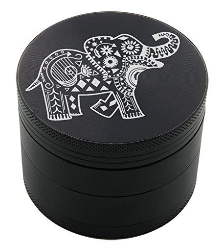 - Elephant Laser Etched Design 4pcs Large Size Herb Grinder With FREE Scraper Item # ETCH-G012317-67