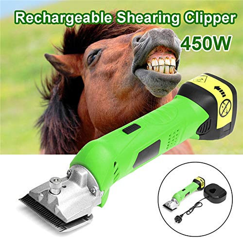 Electric Shears Shearing Clipper, Sheep/Horse Electric Grooming Clippers Kit, Rechargeable Farm Wool Shearing, 2500r/min