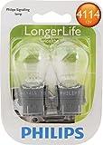 Philips 4114 LongerLife Miniature Bulb, 2 Pack