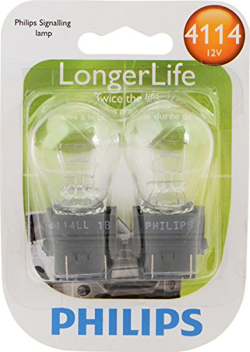 Philips 4114LLB2 4114 LongerLife Miniature Bulb, 2 Pack