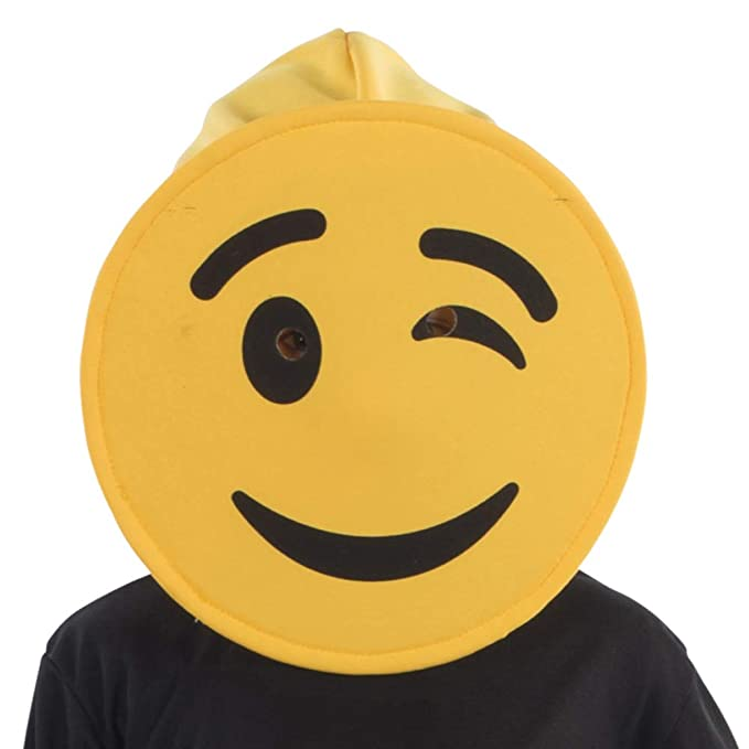 Amazon.com: Dress Up America Winking Emoji Mask for Kids ...