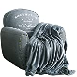 Qbedding Inc. Luxury Collection Ultra Soft Plush Fleece Lightweight All-Season Throw/Bed Blanket (Twin (59-Inch-by-78-Inch), Azure Gray)