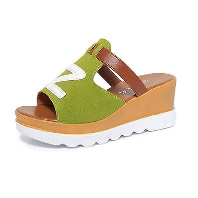 JITIAN Slide Sandal for Women- Summer Open Toe Platforms - Outdoor Wedges Beach Shoes XvhGBm