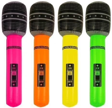 Aufblasbares Mikrofon Rock-n-Roll Rockstar aufblasbar Mikrofone Microphone Mikro