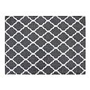 Chesapeake Merchandising 5-feet by 7-feet Flatweave Area Rug Moroccan Design in Grey and White