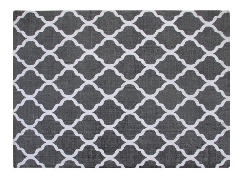 Amazon.com: Chesapeake Merchandising 5 Feet By 7 Feet Flatweave Area Rug  Moroccan Design In Grey And White: Kitchen U0026 Dining