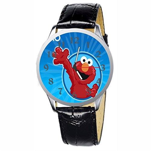 (LCW068-1 New Sesame Street Elmo Stainless Wristwatch Wrist Watch)