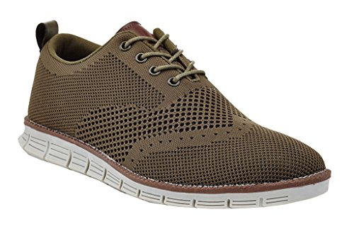 Franco Vanucci Oliver Men's Flyknit Mesh Lightweight Running Walking Lace up Oxford Design Fashion Sneakers