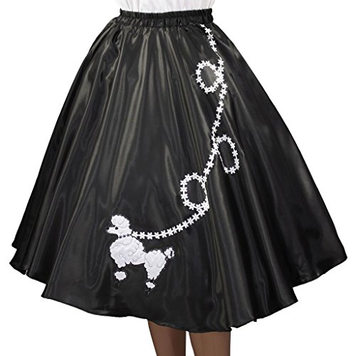 3 BIG NOTES Adult Satin Poodle Skirt Size Medium (30