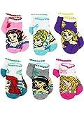Disney Princess Girls Teen Womens 6 pack Socks