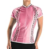 Shebeest Womens Bella Relaxed Cycling Jersey, Leopard Bloom, X-Large