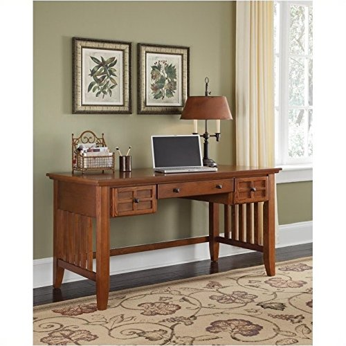 Home Styles 5180-15 Arts and Crafts Executive Desk, Cottage Oak Finish (Mission Arts And Crafts Furniture)
