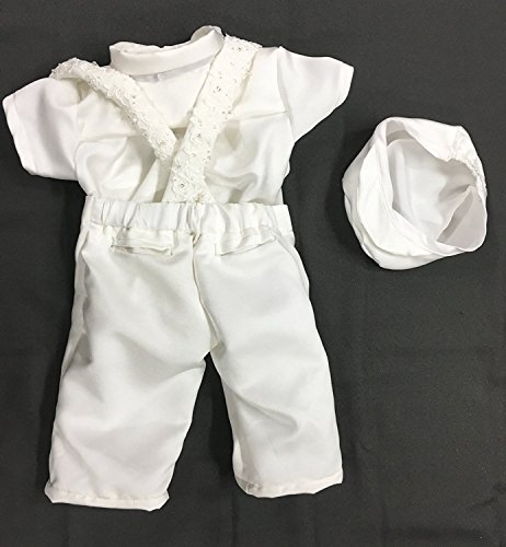 Newdeve Baby Boys Christening Outfit Baptism Infant 3 Pieces With Pants by New Deve (Image #4)