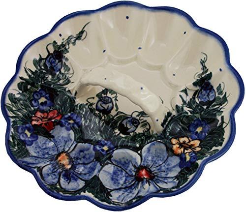 Boleslawiec Polish Pottery Deviled Egg Serving Plate Eva's Collection''Wild Field''