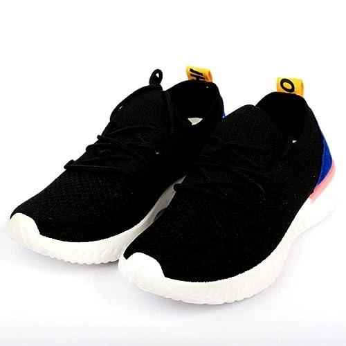 Lycra Running Shoes Black at Amazon