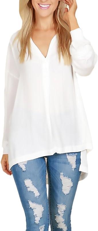 Huixin Blusas De Mujer Elegantes Camisas Basicas Casual ...
