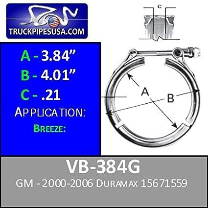 VB-384G - V-Band Turbo Clamp 2000-2006 DURAMAX 15671559