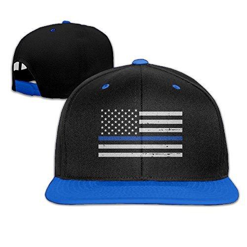 Gill Line (Military Thin Blue Line Flag Hip-Hop Hat Baseball Cap)