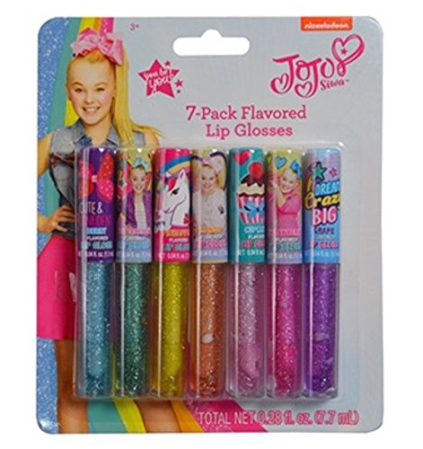 Jojo Siwa Complete Beauty,Make Up & Accessories Set,Including Over 25 Pieces(items can be sold separately in option) (Jojo Siwa 7 Pck Lip Gloss)