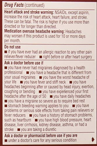 Advil Migraine Liquid Filled Capsules 20ct 200mg Advanced Medicine For Pain (Pack of 2)