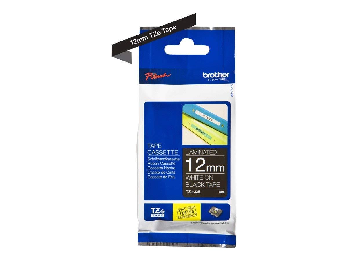 extra-stark klebend schwarz auf transparent Brother Original P-touch Schriftband TZe-S131 12 mm laminiert kompatibel u.a. mit Brother P-touch PT-H100LB//R, -H105, -E100//VP, -D200//BW//VP, -D210//VP