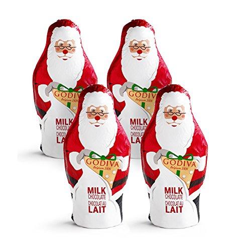 Godiva Chocolatier Foil Wrapped Santa Chocolate