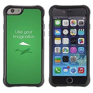 iKiki Tech / Estuche rígido - Use Imagination Green Modern Design - Apple iPhone 6