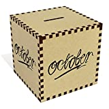 Azeeda Large 'October Swirly Writing' Money Box / Piggy Bank (MB00043436)