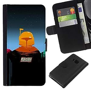 NEECELL GIFT forCITY // Billetera de cuero Caso Cubierta de protección Carcasa / Leather Wallet Case for HTC One M7 // Imperio Contraataca