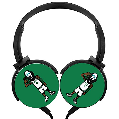 MagicQ Scary Boston Basketball Player Stereo Deep Bass Wired Headphones Earphones