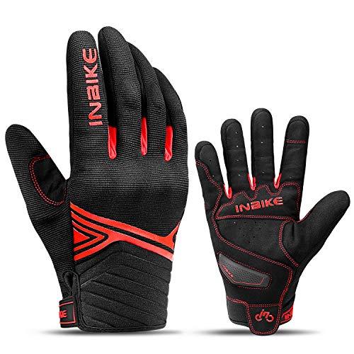 INBIKE Motorrad Handschuhe Mit Harter Mikrofaser Atmungsaktiv Motocross Radlerhandschuhe Schutz Motorradhandschuhe…