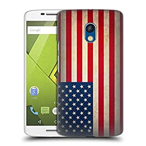 Head Case Designs United States Of America USA Vintage Flags Hard Back Case for Motorola Moto X Play