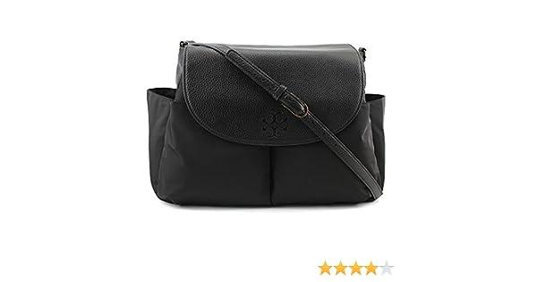 680d2669a387 Amazon.com   Tory Burch Thea Nylon Baby Bag Women Black Messenger NWT   Baby