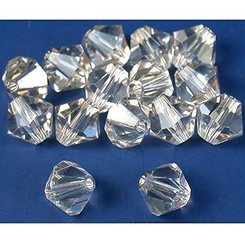 15 Silver Shade Bicone Swarovski Crystal Beads 5301 6mm
