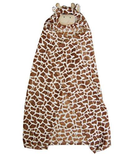 Kirei Sui Baby Giraffe Hooded Blanket Brown