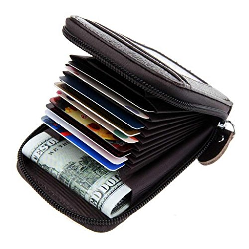 Black Friday Deals Cyber Monday Deals Week 2018-Compact Leather Key Holder Wallet Keychain Key Ring...
