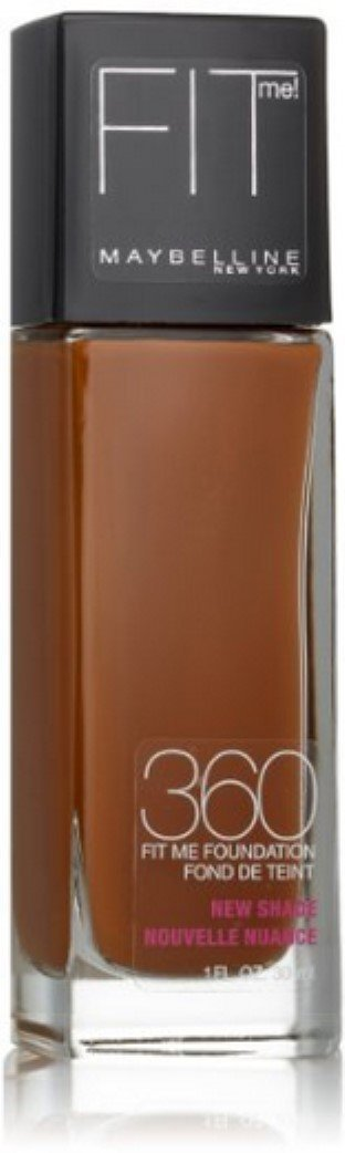 Maybelline New York Fit Me! Foundation, Mocha [360] 1 oz (Pack of 2)