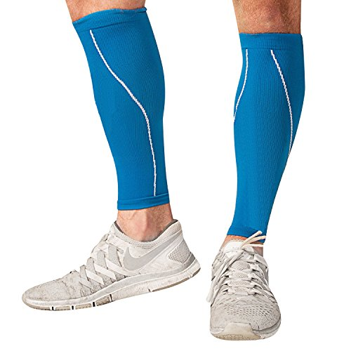 Bitly Graduated Calf Compression Sleeve   Improved Leg Circulation   Pain Relief For Runners  Athletes   More  Medium
