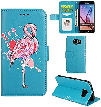 Ailisi Coque Samsung Galaxy S7, Glitter Flamant Rose Flip Case Portefeuille Etui, [Fonction Stand] magnétique Housse de Protection avec emplacements ...