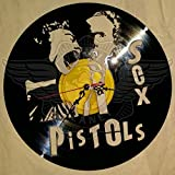 DIY SEX PISTOLS 2 Decorative Designed Modern Vinyl Record Wall Clock Silent Large New Bedroom Livingroom Office Decore Analog Universal Decorate your home Best gift for friend MUSIC LOVER