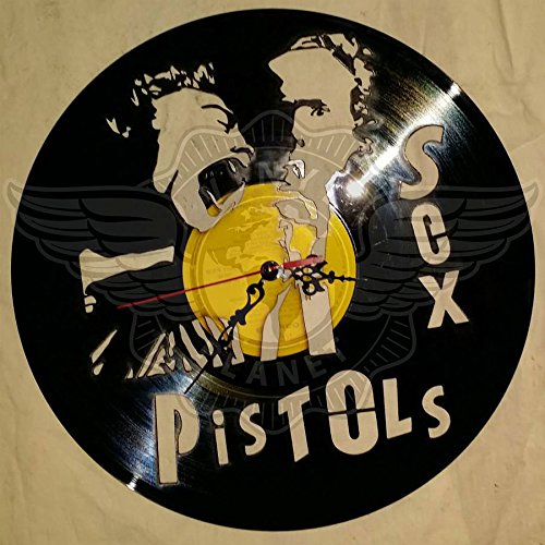 DIY SEX PISTOLS 2 Decorative Designed Modern Vinyl Record Wall Clock Silent Large New Bedroom Livingroom Office Decore Analog Universal Decorate your home Best gift for friend MUSIC LOVER by VINYL PLANET