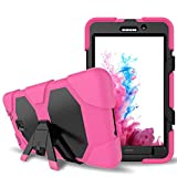 Galaxy Tab A 7.0 Case,Shockproof dust-proof hard armor Heavy Duty design with Kickstand Protective Case For Samsung Galaxy Tab A 7.0 Inch Tablet 2016 Release [SM-T280 / SM-T285] (Rose)