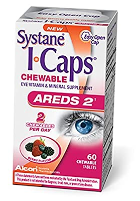 Systane ICaps AREDS 2 Eye Vitamin & Mineral Supplement, 60 Chewable Tablets (Pack of 10)