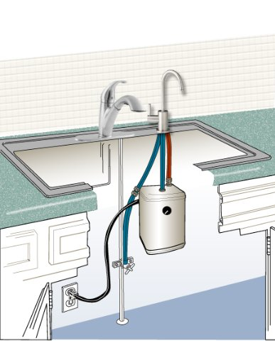 Ready Hot RH-200-F570-BN Stainless Steel Hot Water Dispenser System, Includes Brushed Nickel Single Lever Faucet by Ready Hot (Image #1)