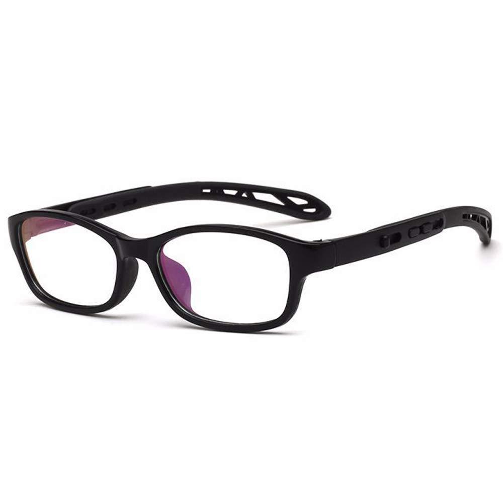 Fantia Unisex child Non-prescription Glasses Frame Clear Lens Kids Eyeglasses Black
