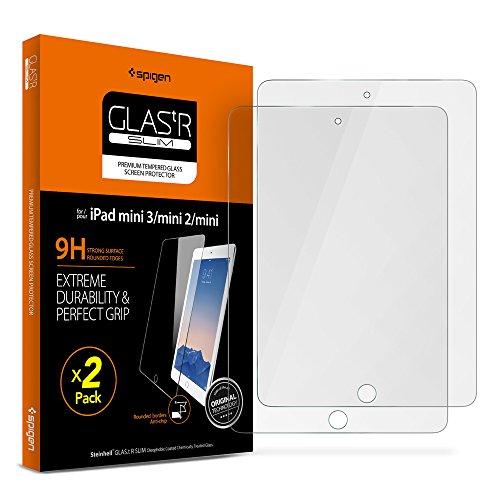 Spigen Tempered Glass iPad Mini Screen Protector Tempered Glass 2 Pack for iPad Mini 1 / iPad Mini 2 / iPad Mini 3