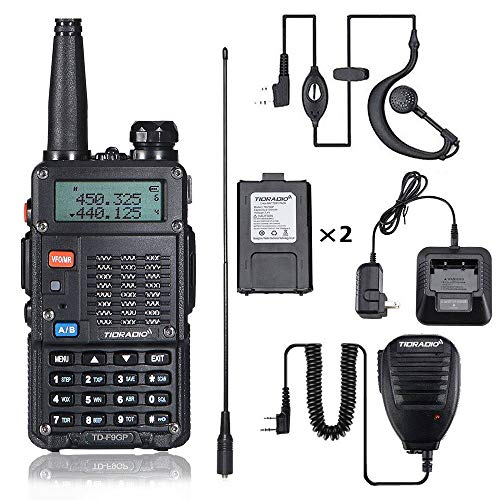 TIDRADIO 8Watt Ham Radio Handheld (UV-5R 3rd Gen) Uhf Vhf Radio 2 Way Radio High Power Dual Band Walkie Talkies