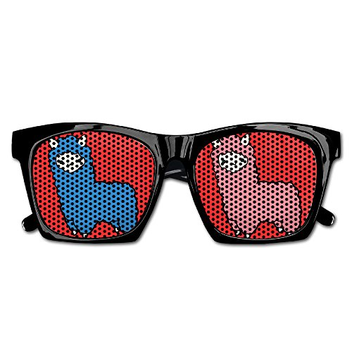 Llama Uk Costume (DaleSuSu Unisex Alpaca Llama Cartoon Fashion Party Glasses Sunglasses Costume)