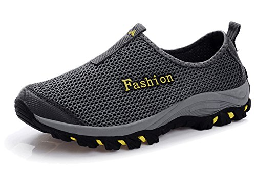 Grey Breathable Fangsto Shoes Adults' Unisex Slip Running Mesh ONS Athletic qwz16OxzB